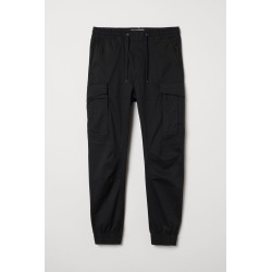 H & M - Cargo Joggers - Black found on Bargain Bro India from H&M (US) for $39.99