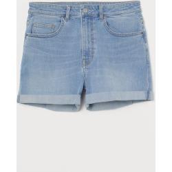 H & M - Denim Shorts Girlfriend - Blue