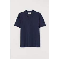 H & M - Cotton Polo Shirt - Blue
