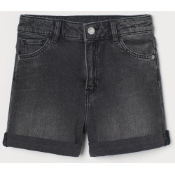 H & M - Relaxed High Waist Shorts - Black found on Bargain Bro from H&M (US) for USD $15.19