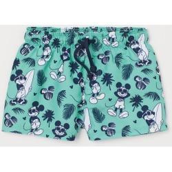 H & M - Patterned Swim Shorts - Green