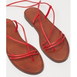 H & M - Leather Sandals - Red