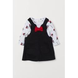 H & M - Bib Overall Dress and Top - Black