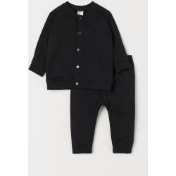 H & M - Cardigan and Pants - Black