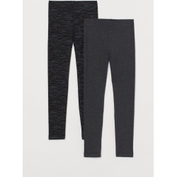 H & M - 2-pack Leggings - Black found on Bargain Bro India from H&M (US) for $17.99