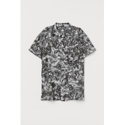 H & M - Patterned Shirt - White
