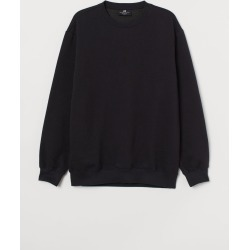 H & M - Relaxed Fit Sweatshirt - Black found on Bargain Bro India from H&M (US) for $14.99