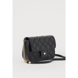 H & M - Quilted Shoulder Bag - Black found on Bargain Bro from H&M (US) for USD $11.39