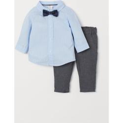 H & M - Shirt and Chinos - Gray
