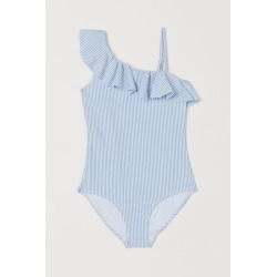H & M - One-shoulder Swimsuit - Blue found on Bargain Bro from H&M (US) for USD $13.67