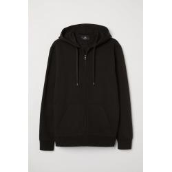 H & M - Regular Fit Hooded Jacket - Black