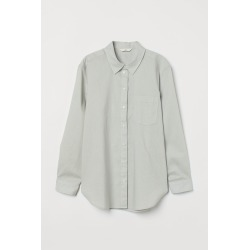 H & M - Linen-blend Shirt - Green found on Bargain Bro India from H&M (US) for $24.99