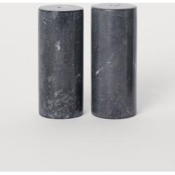 H & M - Marble Salt and Pepper Set - Black
