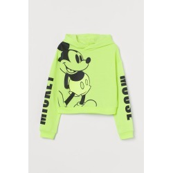 H & M - Printed Hoodie - Green found on Bargain Bro from H&M (US) for USD $15.19