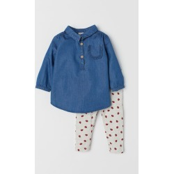 H & M - Tunic and Leggings - Blue