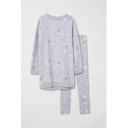 H & M - Sweatshirt and Leggings - Gray