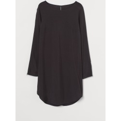 H & M - Short Viscose Dress - Black found on Bargain Bro Philippines from H&M (US) for $34.99