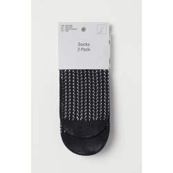 H & M - 2-pack Socks - Black