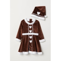 H & M - Gingerbread Dress and Hat - Beige