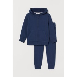 H & M - Hooded Jacket and Pants - Blue