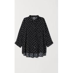 H & M - Wide-cut Shirt - Black
