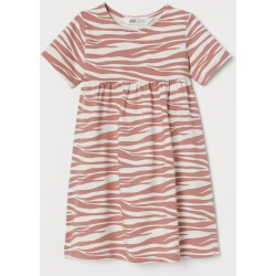 H & M - Cotton Jersey Dress - Pink found on Bargain Bro from H&M (US) for USD $11.39