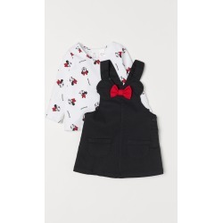 H & M - Bib Overall Dress and Top - Black