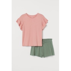 H & M - 2-piece Jersey Set - Green found on Bargain Bro from H&M (US) for USD $13.67