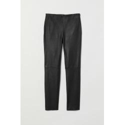 H & M - Leather Pants - Black
