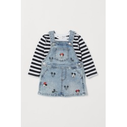 H & M - Bib Overall Dress and Top - Blue