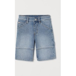 H & M - Comfort Stretch Denim Shorts - Blue found on Bargain Bro from H&M (US) for USD $15.19