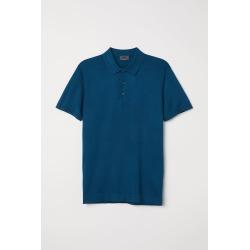 H & M - Silk-blend Polo Shirt - Blue