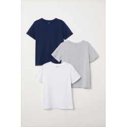 H & M - 3-pack T-shirts - White found on Bargain Bro India from H&M (US) for $17.99
