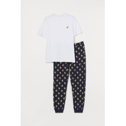 H & M - Pajama T-shirt and Pants - Blue