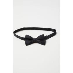 H & M - Satin Bow Tie - Black