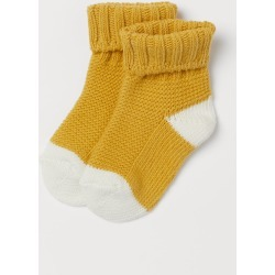 H & M - Knit Socks - Yellow