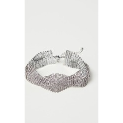 H & M - Short Rhinestone Necklace - Silver found on Bargain Bro India from H&M (US) for $19.99