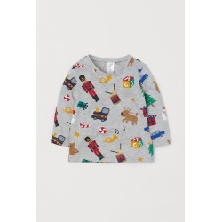 H & M - Long-sleeved Shirt - Gray