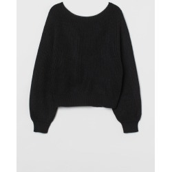 H & M - Knit Sweater - Black found on Bargain Bro from H&M (US) for USD $18.99