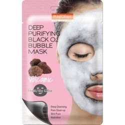 [PUREDERM] Deep Purifying Black O2 Bubble Mask Volcanic 20g (Weight : 28g) / found on Bargain Bro from  for $2.57