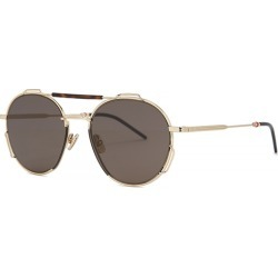 Dior Homme Dior0234S Gold-tone Aviator-style Sunglasses found on MODAPINS from Harvey Nichols for USD $481.86