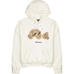 Palm Angels White Bear-appliquéd Hooded Cotton Sweatshirt found on Bargain Bro UK from Harvey Nichols