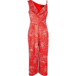 Lavish Alice Red Floral-print Cropped Jumpsuit found on MODAPINS from Harvey Nichols for USD $90.52