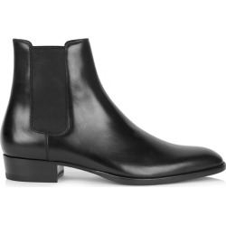 Saint Laurent Wyatt Black Leather Chelsea Boots found on Bargain Bro UK from Harvey Nichols