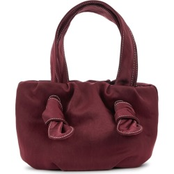 STAUD Ronnie Bordeaux Satin Top Handle Bag found on Bargain Bro UK from Harvey Nichols