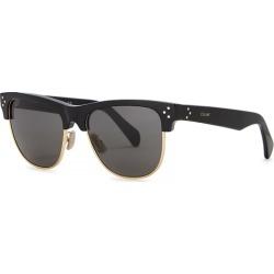 CELINE Eyewear Black Clubmaster-style Sunglasses found on Bargain Bro UK from Harvey Nichols