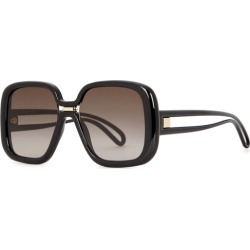 Givenchy GV 7106 Black Oversized Sunglasses found on MODAPINS from Harvey Nichols for USD $317.95