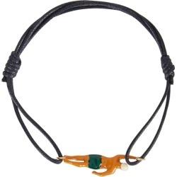 Aliita Nadador Navy Cord Bracelet found on MODAPINS from Harvey Nichols for USD $202.20