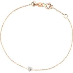 Kismet By Milka 14ct Rose Gold Diamond Heart Bracelet found on Bargain Bro UK from Harvey Nichols
