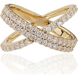 Alinka Jewellery Katia Double Crossover Ring Yellow Gold found on MODAPINS from Harvey Nichols for USD $6180.72